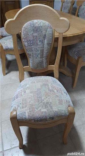 Masa extensibila + 6 scaune - imagine 3