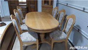Masa extensibila + 6 scaune - imagine 1