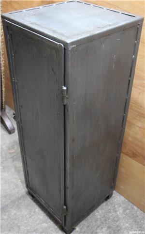 Dulap metalic cu rafturi; Mic dulap vintage din fier; Fiset - imagine 4