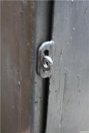 Dulap metalic cu rafturi; Mic dulap vintage din fier; Fiset - imagine 5