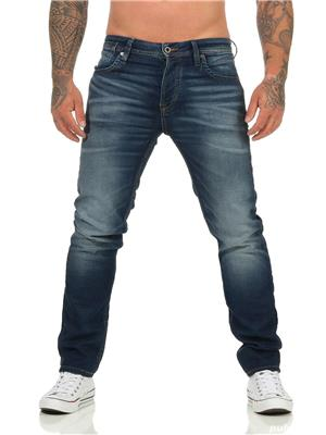 Jeans Barbati Jack&Jones JJITIM JJLEON GE 227 I.K. NOOS Blue Denim NOU - imagine 1