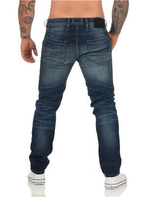 Jeans Barbati Jack&Jones JJITIM JJLEON GE 227 I.K. NOOS Blue Denim NOU - imagine 3