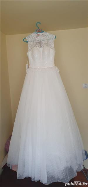 Vand rochie de mireasa noua marimea S - imagine 5