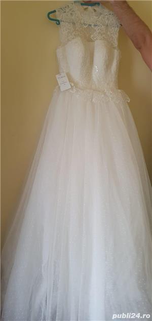 Vand rochie de mireasa noua marimea S - imagine 6