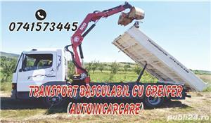 Transport basculabil cu macara și greifer  - imagine 1