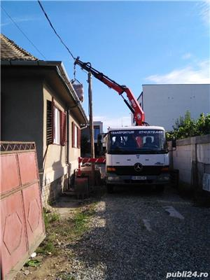 Transport basculabil cu macara și greifer  - imagine 2