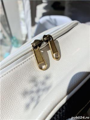 Backpack Gucci White Print,  alb, nou, original 100% - imagine 4