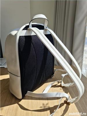 Backpack Gucci White Print,  alb, nou, original 100% - imagine 3
