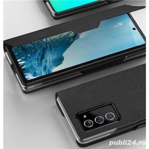 Husa flip book carte premium lux SAMSUNG Galaxy Z Fold2 / Fold 2 modele diferite - imagine 7