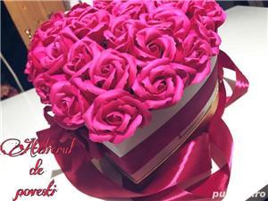 aranjament trandafiri de sapun  - imagine 1