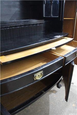 Bufet vintage Stil Florentin; Vitrina lemn cu usi si sertare; Dulap - imagine 7