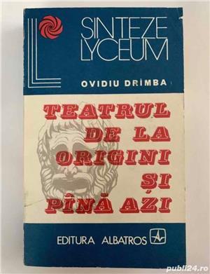 Teatrul de la origini si pana azi, autor Ovidiu Drîmba - imagine 1
