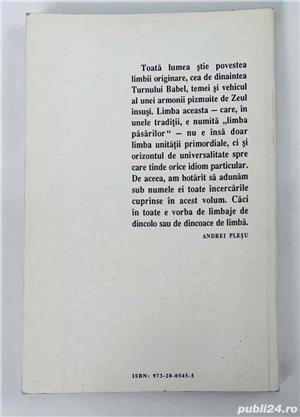 Limba pasarilor, de Andrei Plesu, Ed. Humanitas - imagine 2