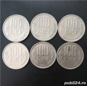 Lot monede 100 lei 1991,1992,1993,1994,1995,1996 - imagine 1