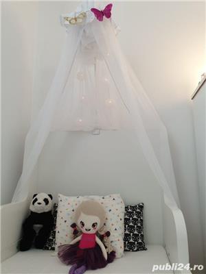vand paturi extensibile copii cu baldachine si saltele incluse - imagine 5