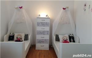 vand paturi extensibile copii cu baldachine si saltele incluse - imagine 4