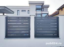 Confecționăm garduri din fier forjat din plăci de beton din șipcă metalică din plasă bordurată la  - imagine 1