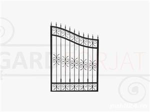Confecționăm garduri din fier forjat din plăci de beton din șipcă metalică din plasă bordurată la  - imagine 4