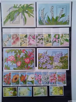 Timbre cu orhidee nestampilate in serii complete - imagine 1