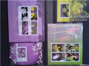 Timbre cu orhidee nestampilate in serii complete - imagine 2