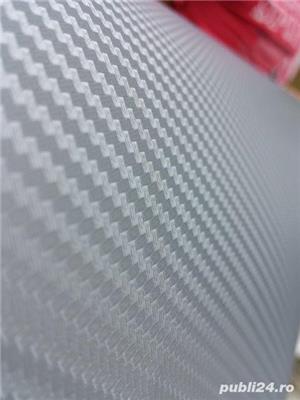 folie carbon 3d negru& argintiu - imagine 2