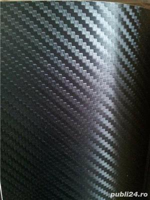 folie carbon 3d negru& argintiu - imagine 1