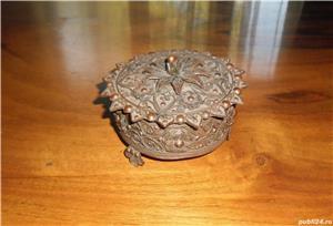 Casetă pentru bijuterii, din cupru, anii 1970 - imagine 1