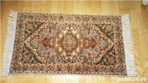Covor lana-Kashan - lucrat manual- vechi. - imagine 1