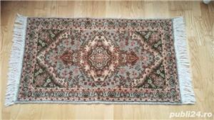 Covor lana-Kashan - lucrat manual- vechi. - imagine 2