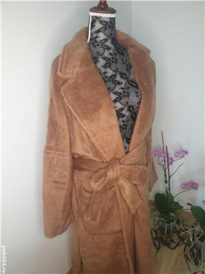 Palton din blana ecologica,  nou cu eticheta , Zara marimea L - imagine 5