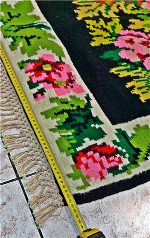 Covor oltenesc lana, vecchime 80-100 ani, stare foarte buna - imagine 4