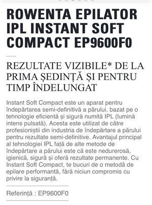 Epilator Rowenta IPL EP9600, 150.000 impulsuri, neatins - imagine 7