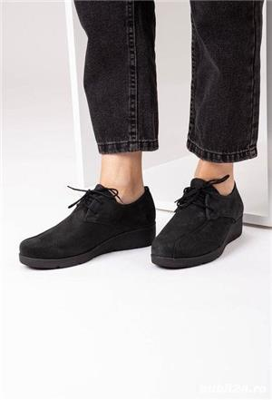pantofi catifea oxford - imagine 1