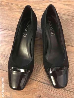 pantofi noi, piele naturala, marimea 39 - imagine 2