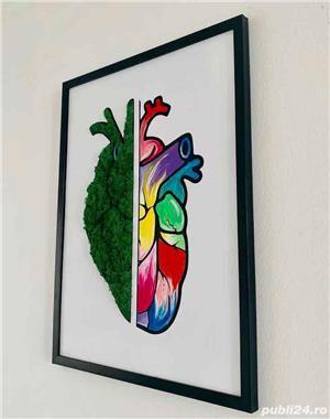 tablou inima si pictura acrilica - imagine 1