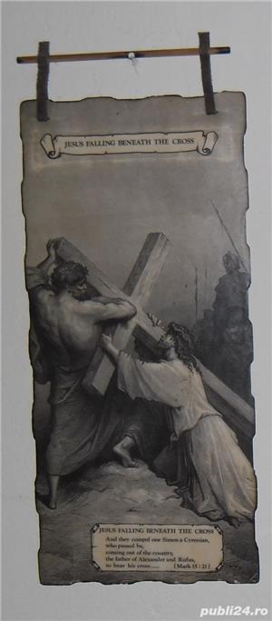 Gravură  Isus cade sub povara crucii  - imagine 1