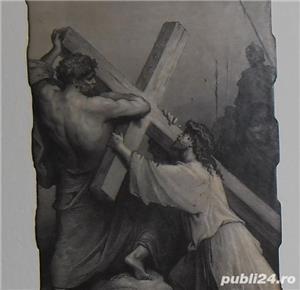 Gravură  Isus cade sub povara crucii  - imagine 3