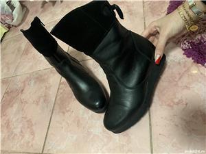 Vand cizme dama piele+piele intoarsa,noi, negre, masura 36 - imagine 4
