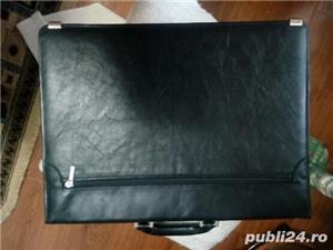Servieta din piele neagra - imagine 2