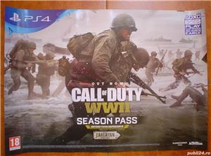 Poster/afis joc  Call of Duty WWII    PS4 - imagine 1