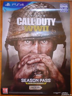 Poster/afis joc  Call of Duty WWII    PS4 - imagine 2