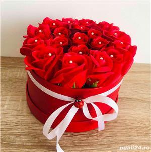 Aranjament cu trandafiri de sapun - imagine 2