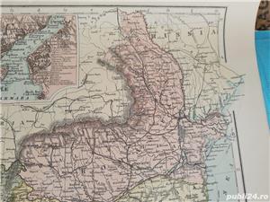 Harta a Balcanilor, cu reprezentare a Romaniei, tiparita in anul 1904 - imagine 3