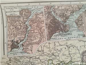 Harta a Balcanilor, cu reprezentare a Romaniei, tiparita in anul 1904 - imagine 4