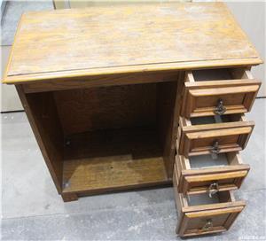 Comoda vintage cu sertare; Dulap lemn masiv solid; Birou cu blat - imagine 2