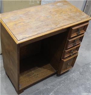 Comoda vintage cu sertare; Dulap lemn masiv solid; Birou cu blat - imagine 3