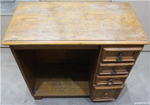 Comoda vintage cu sertare; Dulap lemn masiv solid; Birou cu blat - imagine 5
