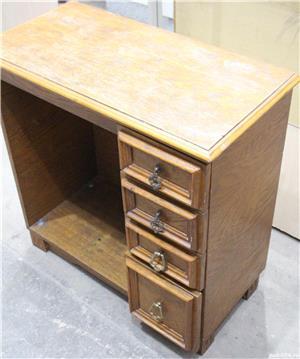 Comoda vintage cu sertare; Dulap lemn masiv solid; Birou cu blat - imagine 4