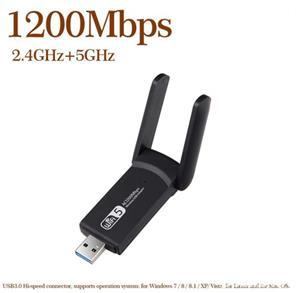 Adaptor wifi dualband cu antenă - placa de retea wireless cu CD driver 1200Mbps - imagine 3