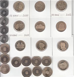 ROMANIA - COLECTIE 148 MONEDE DIFERITE DE LA  5 BANI 1867 - LA 50 BANI 2019  L9 - imagine 6